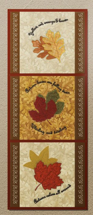Rustling Leaves by Cheryl Haynes embroidery collection featuring several applique designs