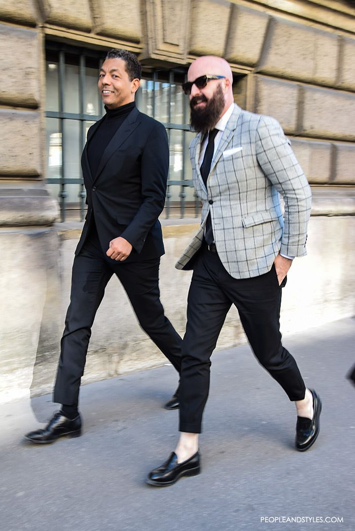 Men S Street Style Fashion Slim Blazers And Cropped Pants