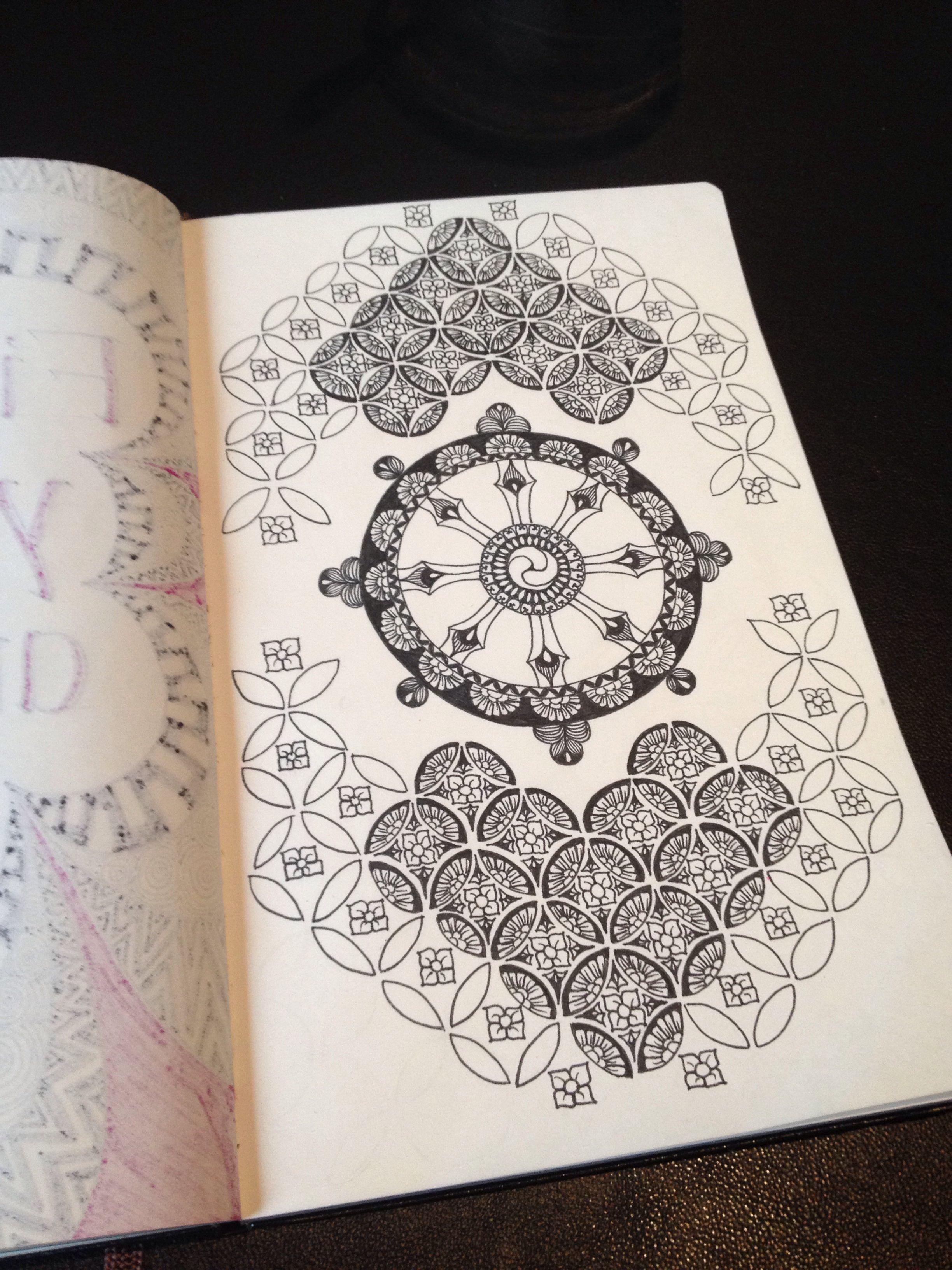 Dharma Wheel Buddhist Mandala Tattoo