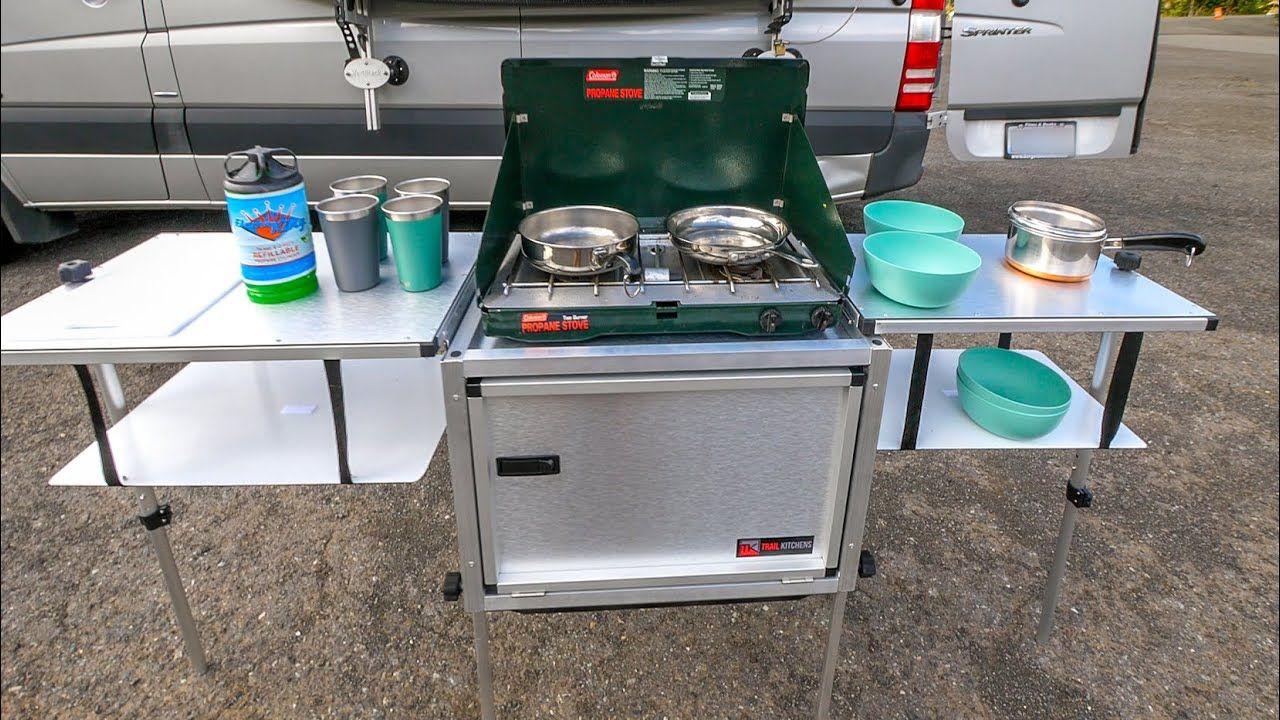 Pin By Patrick Chevalier On Vans In 2020 Camp Kitchen Outdoor Kitchen Portable Camp Kitchen