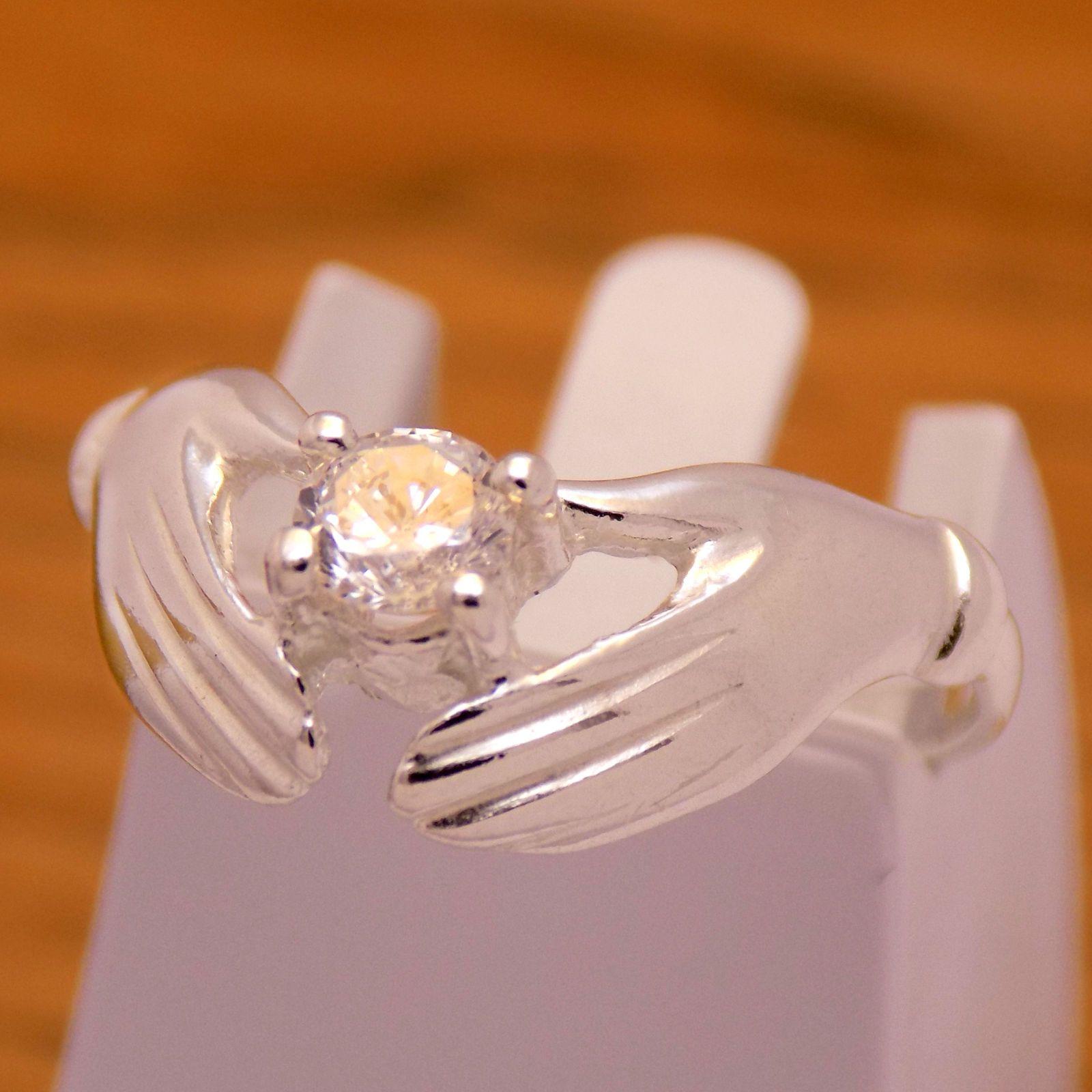 Elegant Gently Solid 925 Sterling Silver Lovely Cute Hands Design ...