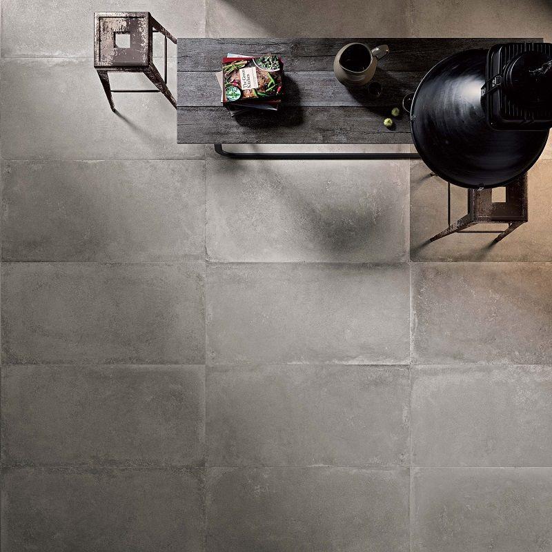 Carrelage Sol Et Mur Gris Cendré Effet Béton Harlem Maison