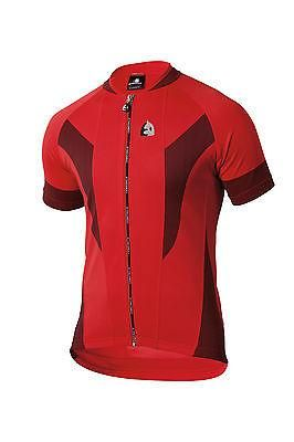 Tora Short Sleeve Cycling Jersey Made in Italy by Santini Red//Black