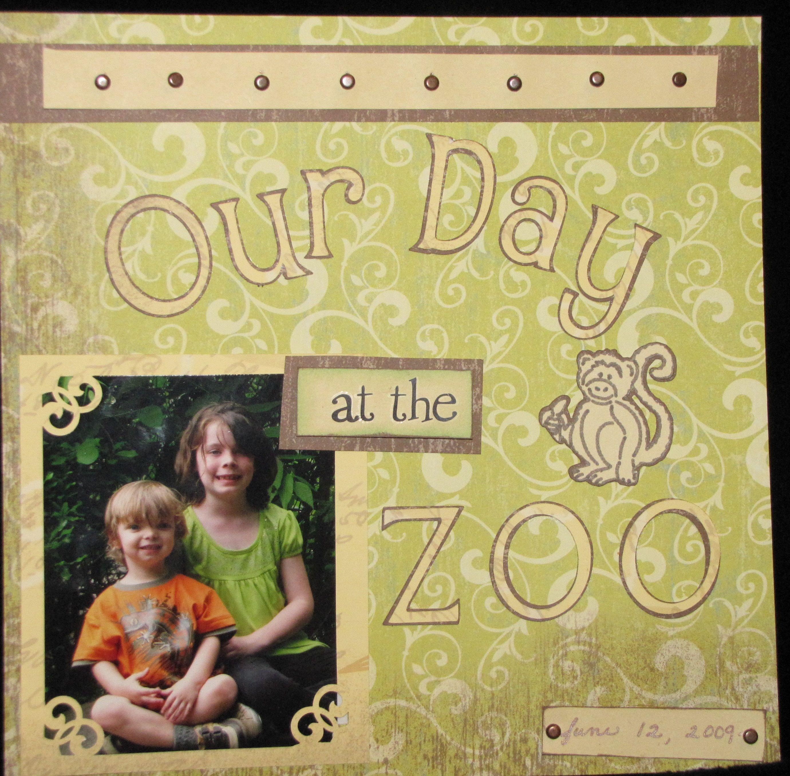 Scrapbook ideas zoo - Layout Zoo Scrapbook Com