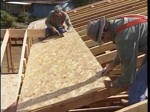 Roof sheathing installation youtube construction for What is roof sheathing