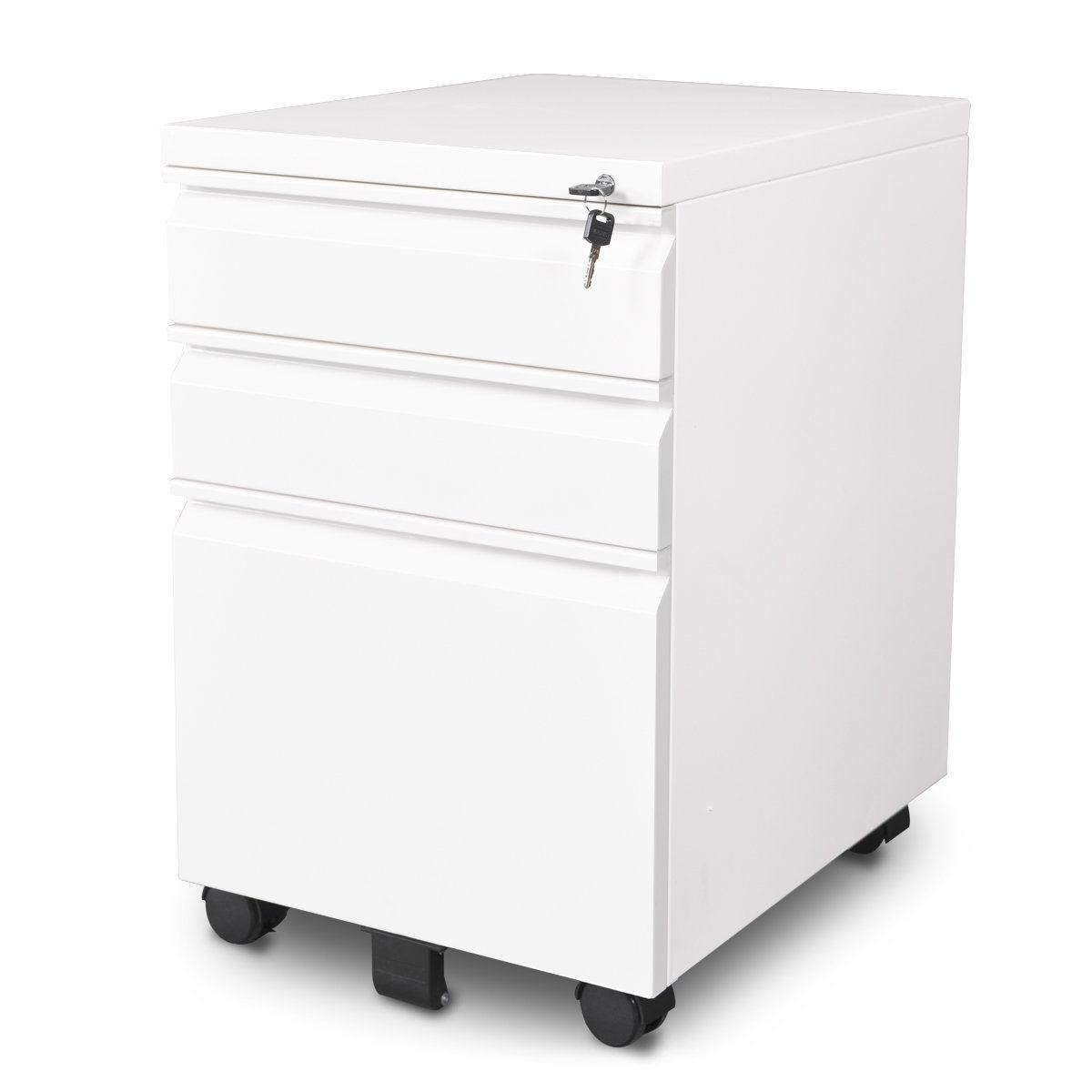 amazon : devaise 3-drawer file cabinet steel moblie storage