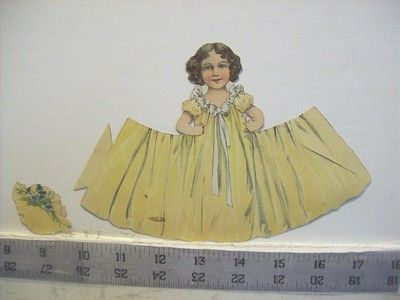 1901 Vintage Paper doll Girl from the Baltimore Sunday Herald Suppliment - rare (05/17/2015)