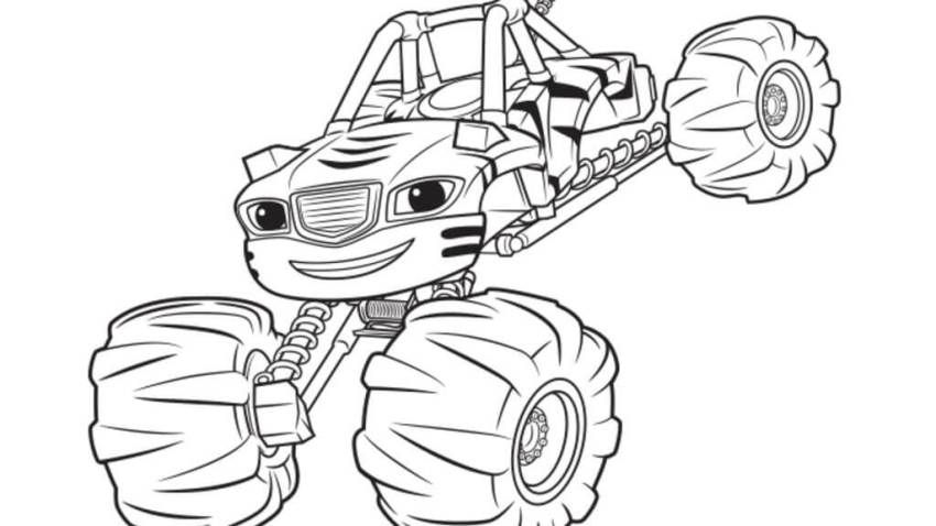 Blaze And The Monster Machines Coloring Pages | Раскраски