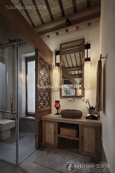Chinese Style And Elegant Villa Home Bathroom Decoration Picture 2016 Part 65