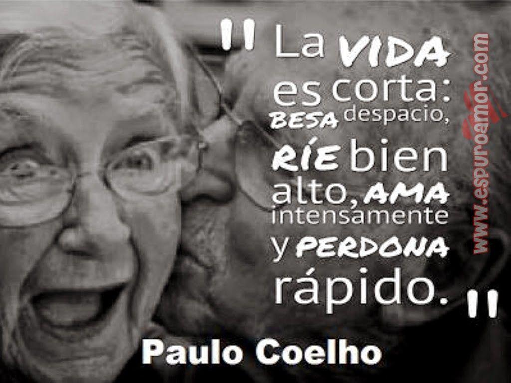 Imagen de amor de pareja de abuelos para con frase de reflexi³n · Paulo CoelhoGourmetHtmlBook JacketFatherEl