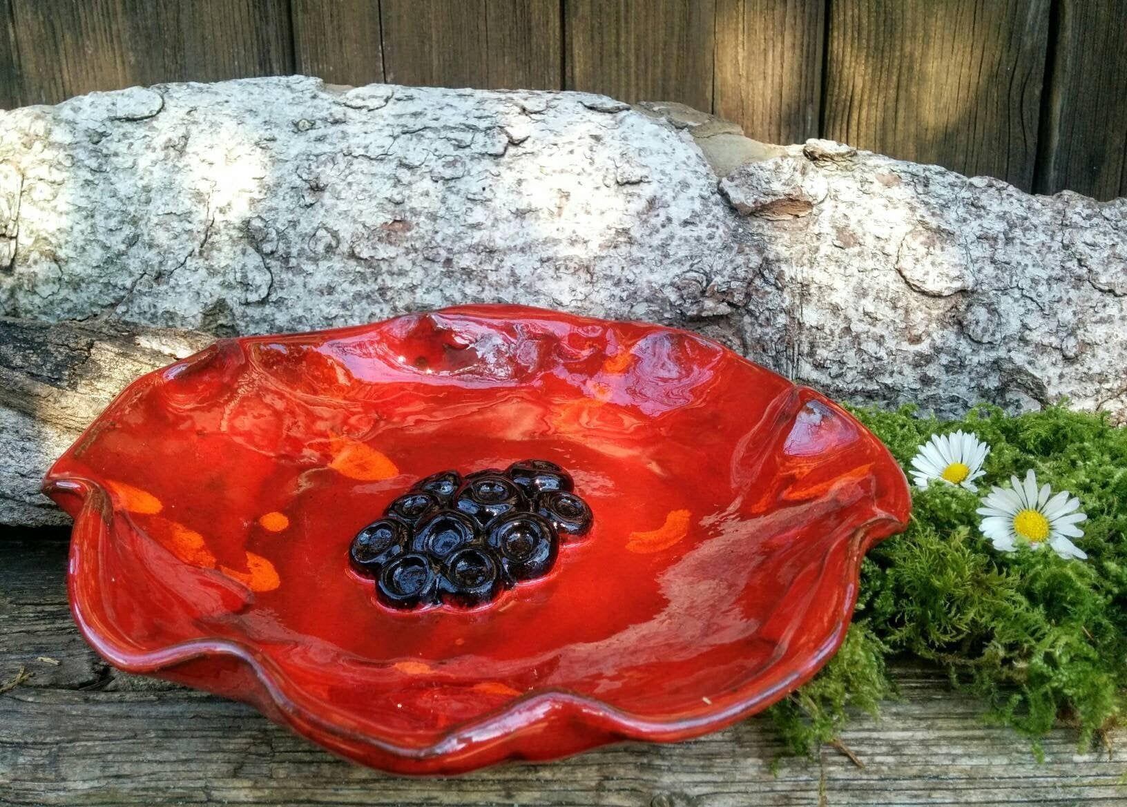 Keramik Schale Mohnblume Getopfert In 2020 Bowl Serving Bowls Ceramics
