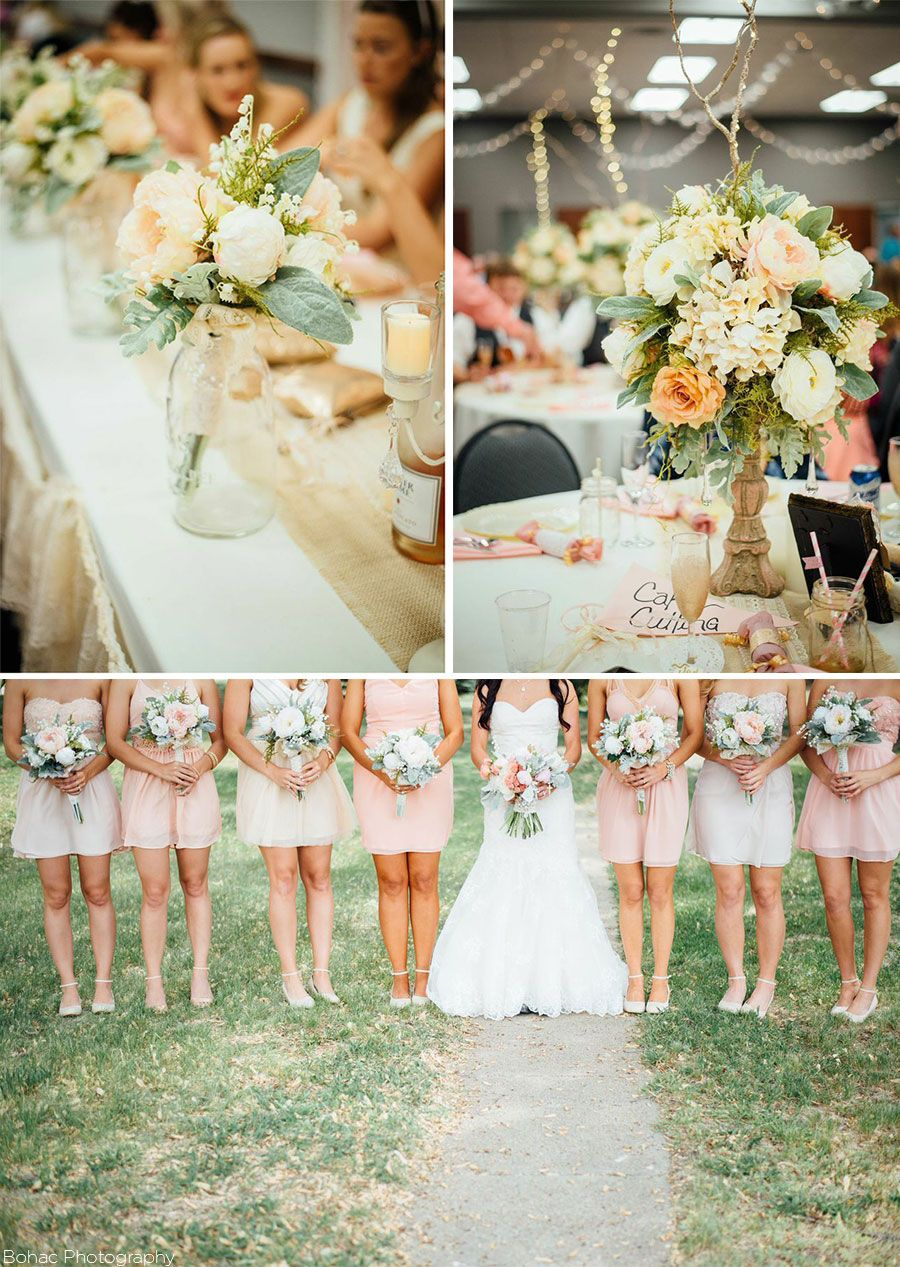 Lovely Rustic Wedding With Gorgeous Silk Flower Centerpieces