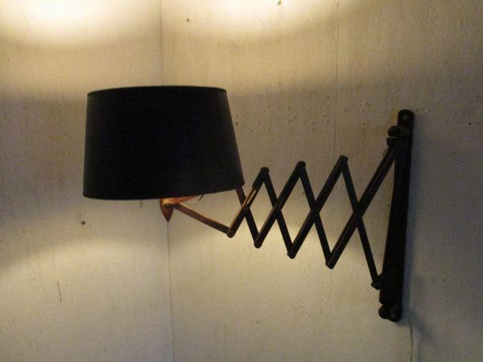 online veilinghuis catawiki grote houten schaarlamp design