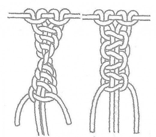 half square knot sinnet  u0026 square knot sinnet