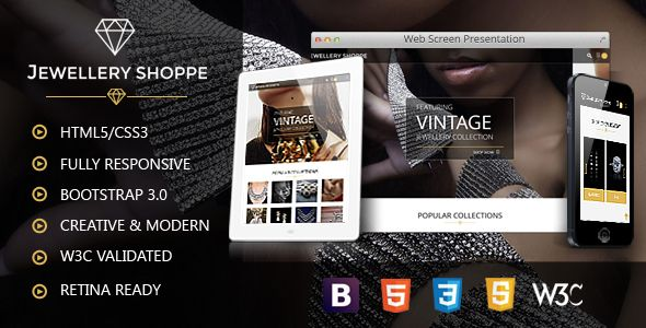 Jewellery | eCommerce HTML Template | eCommerce, Template and Wordpress
