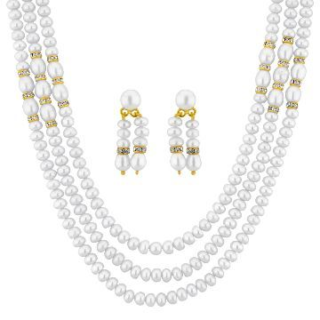 Buy   Enchanting 3 String Button Pearl Set