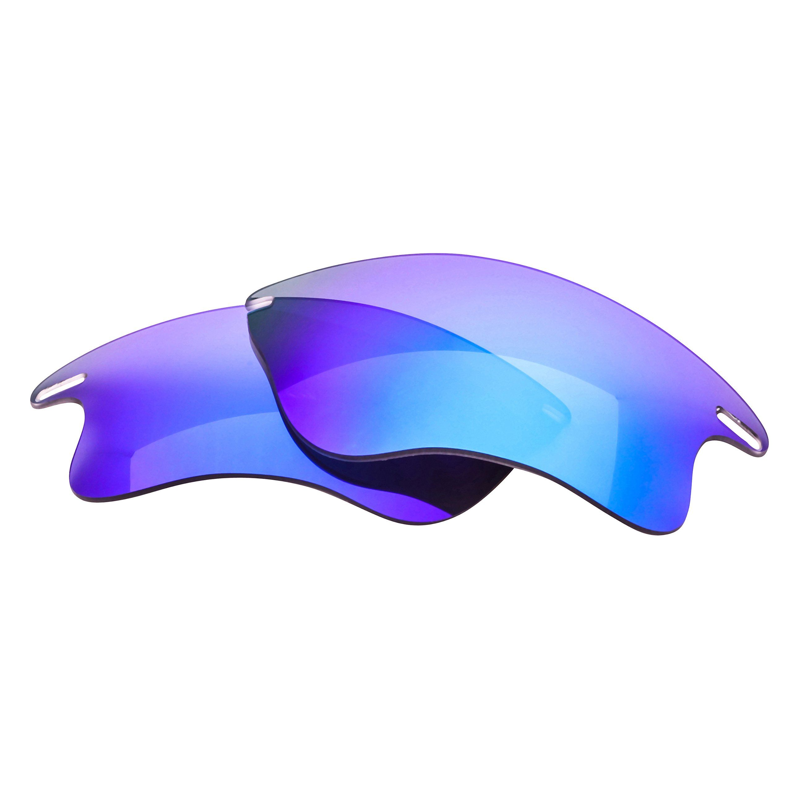 a4bd6e9cdb LenzFlip Oakley Fast Jacket XL Lens Replacement - Gray Polarized with Blue  Mirror Lenses