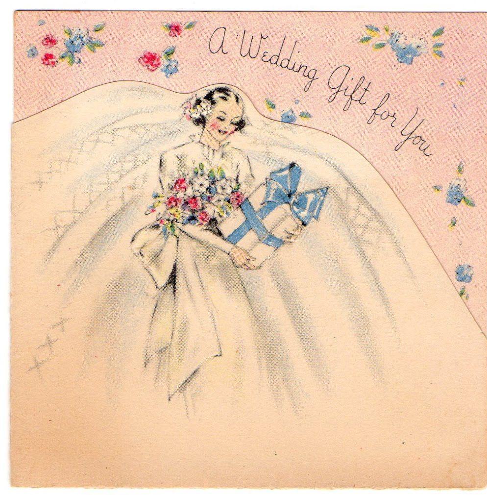 Vintage Wedding Greeting Cards Pastels Of These Vintage Greeting