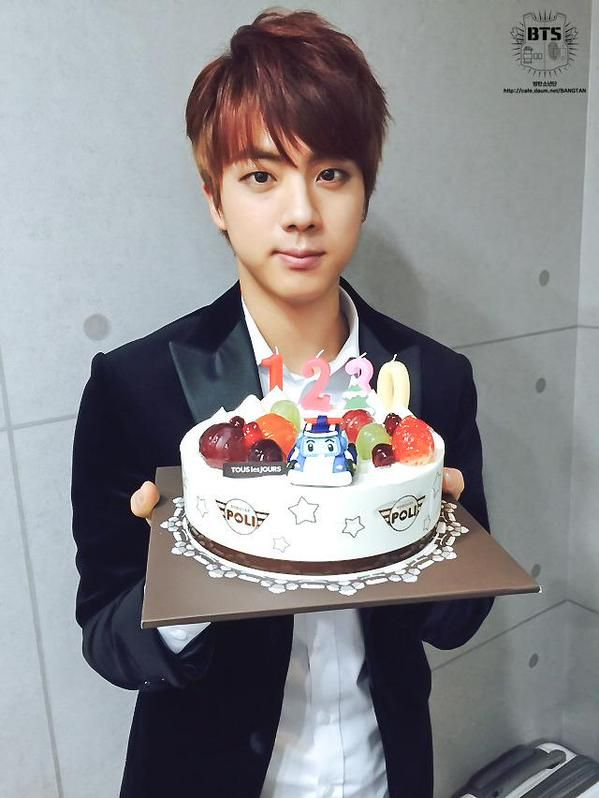 Jin Holding V S Cake Happy Birthday Kim Taehyung Happyvday Bts Kue Wattpad