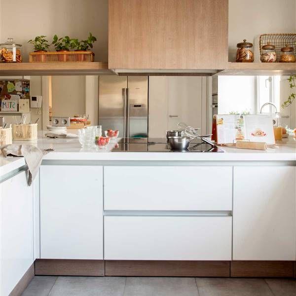 10 combinaciones de muebles de cocina y encimera que ...