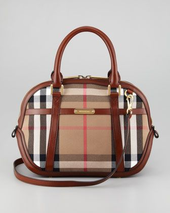 359ba0cd51 Check Small Dome Bag by Burberry at Neiman Marcus.