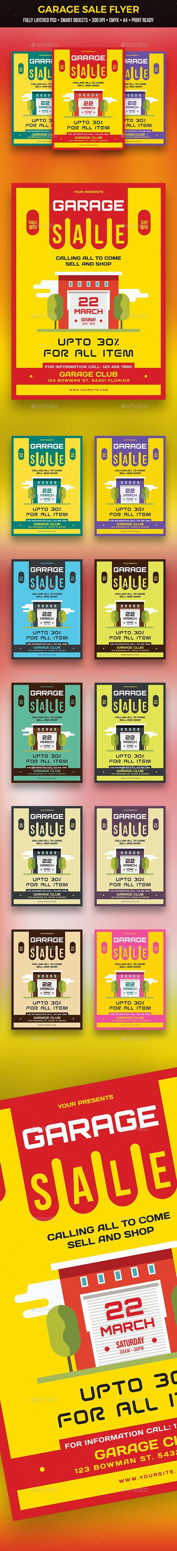 garage sale flyer commerce flyers