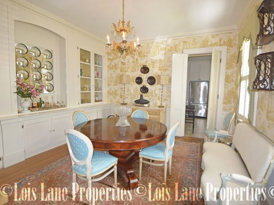 French Styled Dining Room At 135 Queen Street Charleston SC Currently For Sale With Lois Lane Properties
