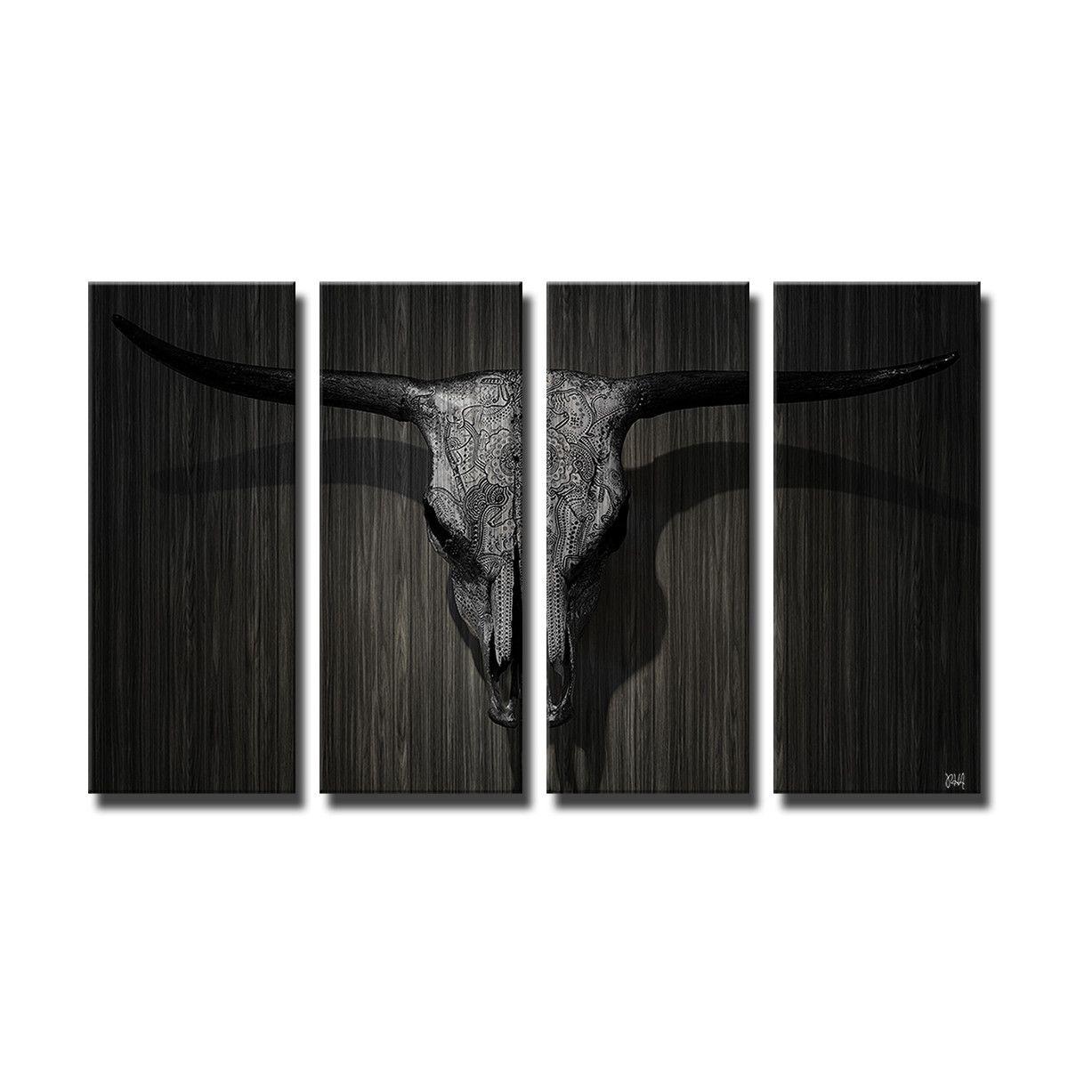 'Born2BWild VIII' 4 Piece Photographic Print on Canvas Set
