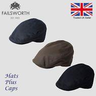 71123868b56 Failsworth Quality British Waxed Cotton Flat Cap Waterproof Hat Black Olive  Navy