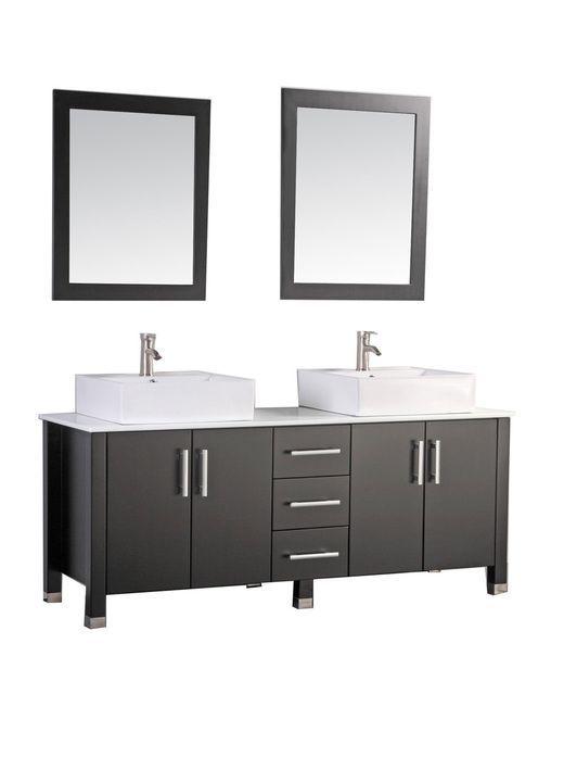 Astonishing Mtdvanities Aruba 60 Double Sink Bathroom Vanity Set Beutiful Home Inspiration Truamahrainfo