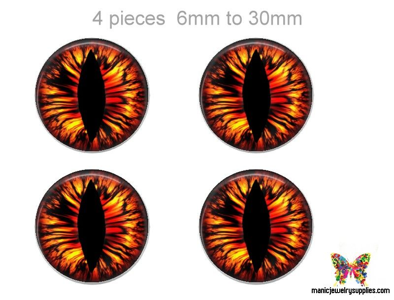 Global 14mm Glass Flat Eyes