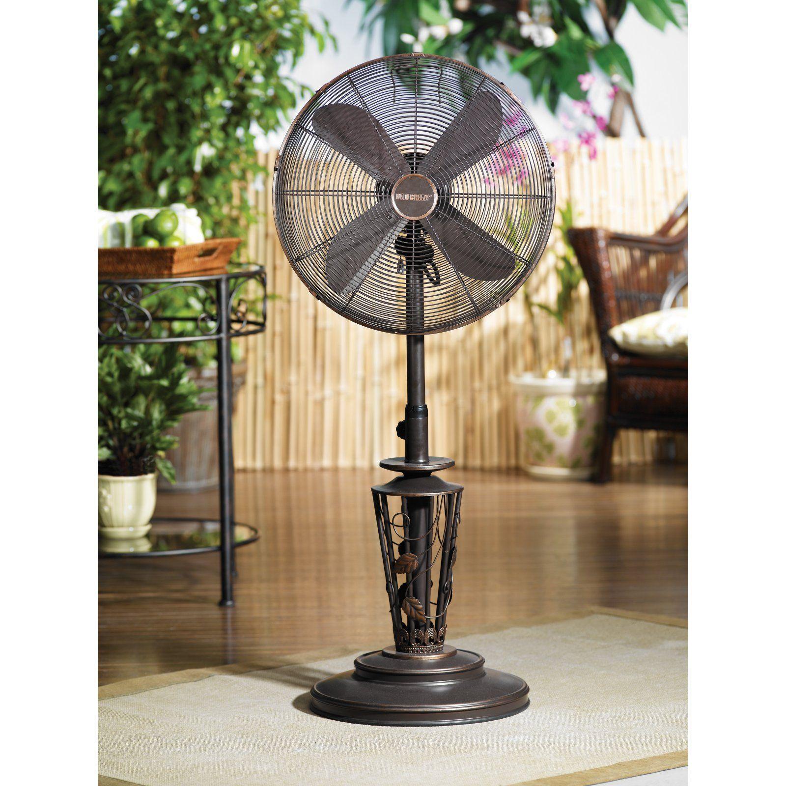 Deco Breeze Deco Breeze Outdoor Standing Fan Vines Outdoor Fan Outdoor Standing Fans Patio Fan