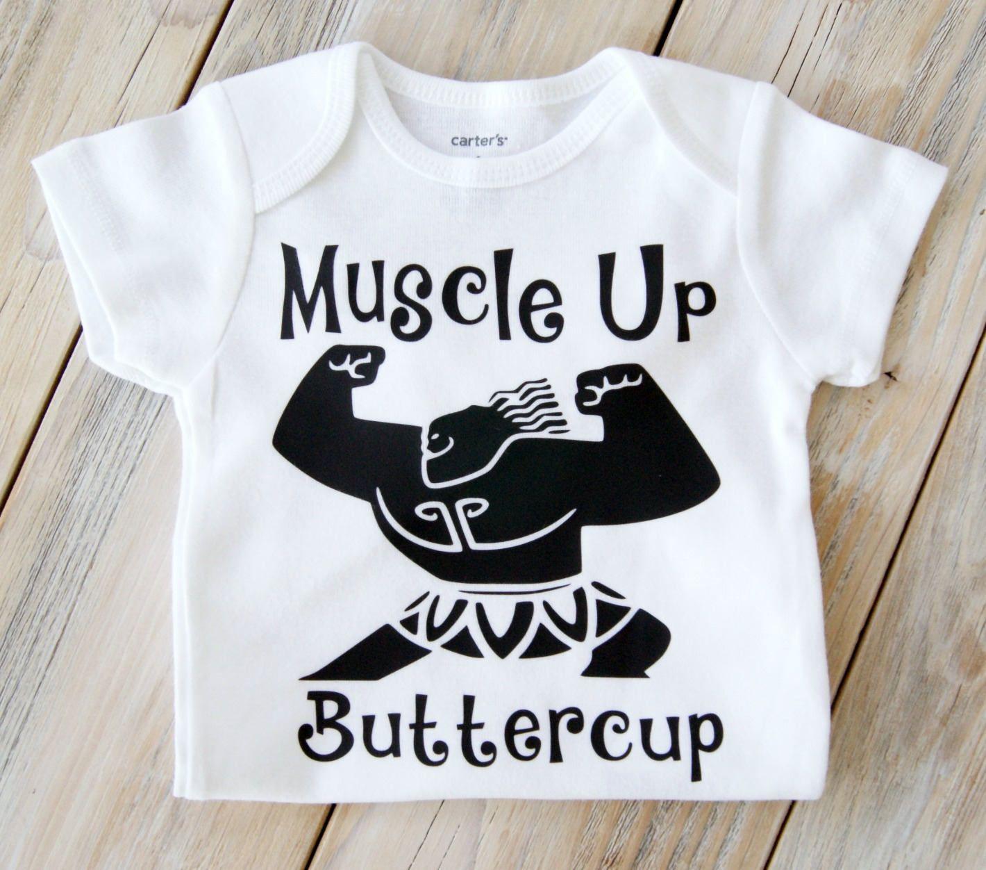 a31db908 Muscle Up Buttercup-Maui Demi God Onesie-Moana-Disney-Baby Girl Onesie-Boy  Onesie-Custom Onesie-Baby Girl Clothing- Moana - Maui - Toddler by ...