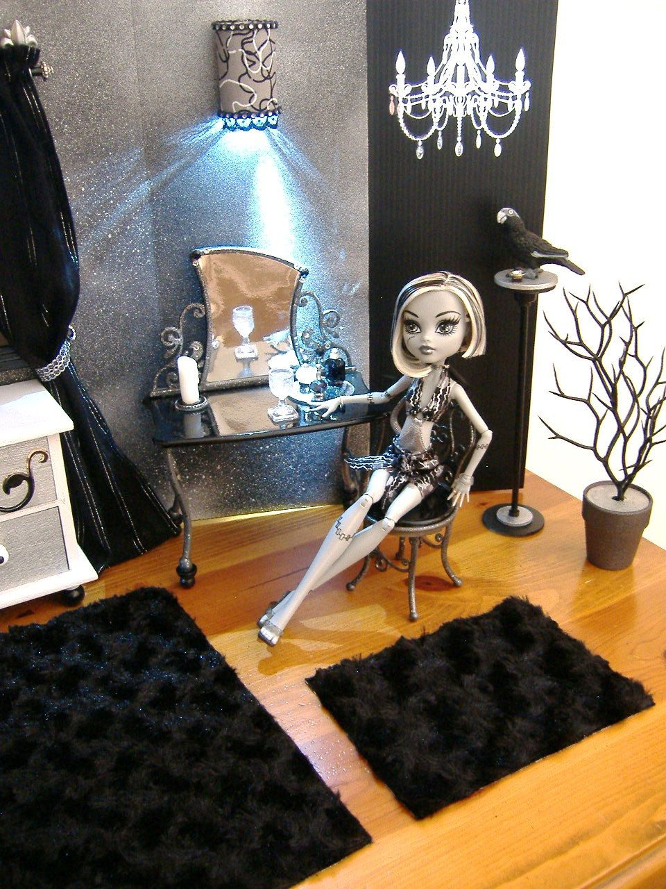 Monster High Bedroom Set Frankie Stein By Kaytoriginals On Etsy, $110.00