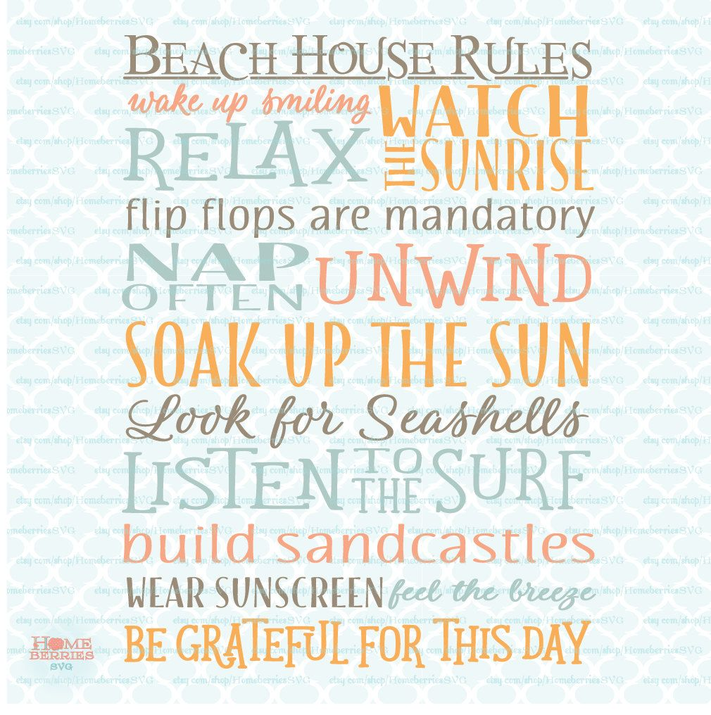 Beach House Rules Sign Svg Nautical Svg Ocean Life Svg Coastal Etsy Beach House Rules House Rules Sign House Rules