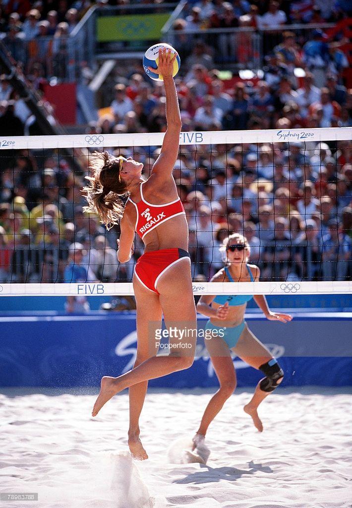 Olympic Games Sydney Australia Women S Beach Volleyball Bondi Beach France V Germany 16th September Beach Volleyball Olympic Games Fivb Beach Volleyball