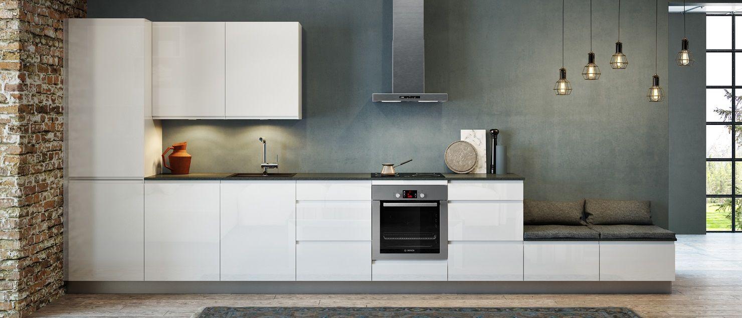 Kvik keuken badkamer garderobe iedereen heeft recht op een coole keuken linea gloss for Deco moderne keuken