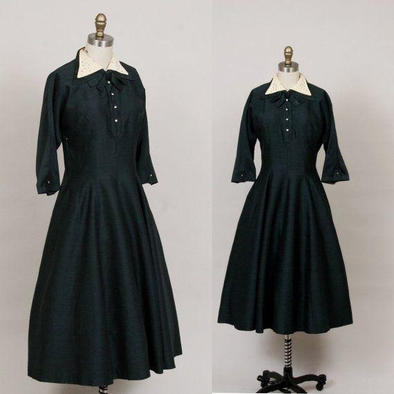 aaca8514d368 1940s   1950s school teacher dress Teacher Dresses
