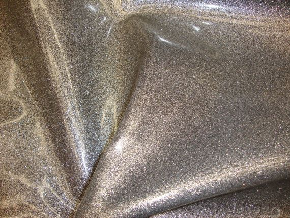 Orion Silver Glitter Vinyl Upholstery Fabric By Fabulessfabrics