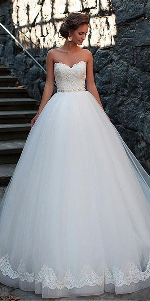 Amazing Tulle Sweetheart Neckline Ball Gown Wedding Dresses With Lace Appliques Milla Nova Wedding Dresses Princess Wedding Dresses Mila Nova Wedding Dress