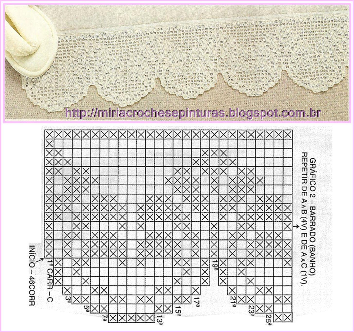 Pin de Tiia Sapsi en Crochet   Pinterest   Cenefas, Ganchillo y Cortinas