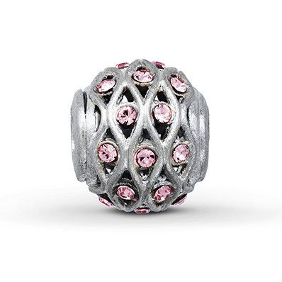 Charmed Memories Pink Crystal Charm Sterling Silver NnLcgnHdEs