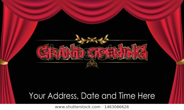 Grand Opening Vector Background Banner Backdrop Stock Vector Royalty Free 1463086628 Banner Backdrop Background Banner Grand Opening