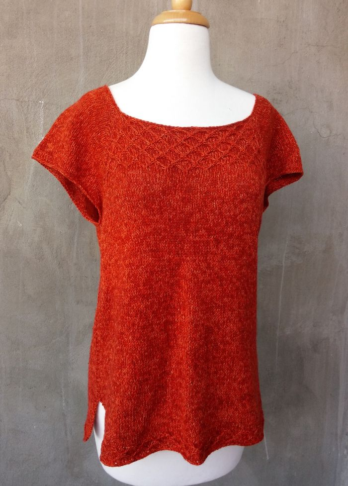 High Trestle Tee Ravelry Knitting Pattern By Olive Knits Top Down