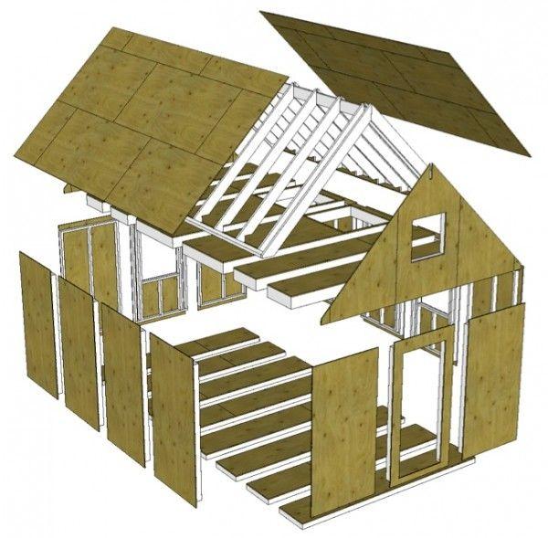 Prefab Hybrid An Approach To Partial Panelized Construction Tiny House Plans Prefab Tiny House Design