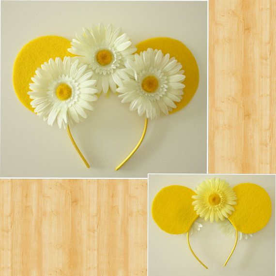 Flower Mouse Ears by Shopmymouse on Etsy