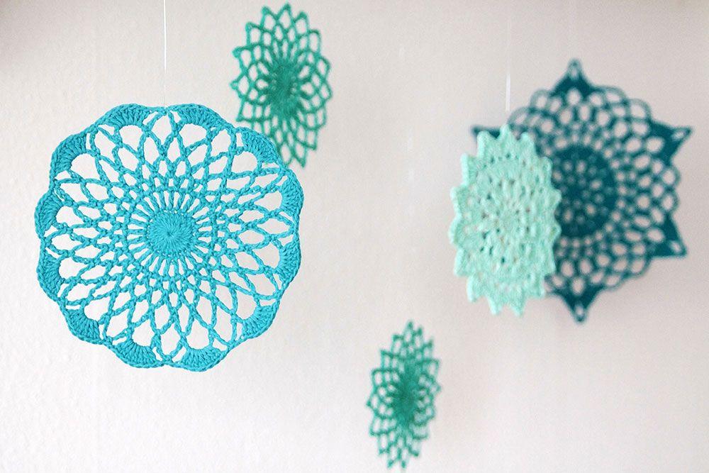 Free crochet pattern: Hanging summer mandala\'s | Mandalas, Verano y ...