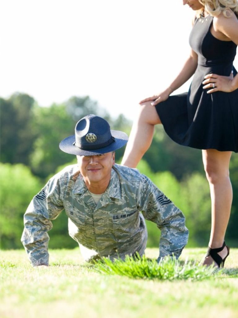Photo Ideas For Our Pictures ;) Chad Would Be In Board For This!! Military  WeddingMilitary ...