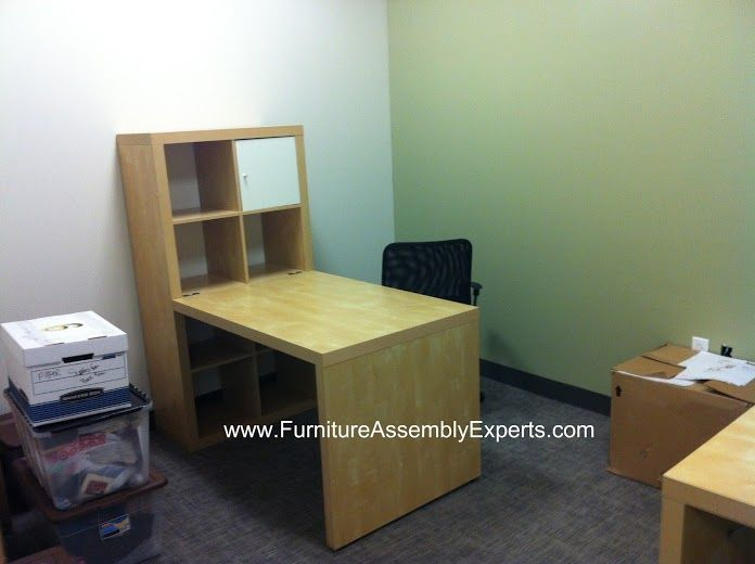 Ikea Expedit Desk Assembled In Fall Church VA By Furniture Assembly Experts  LLC