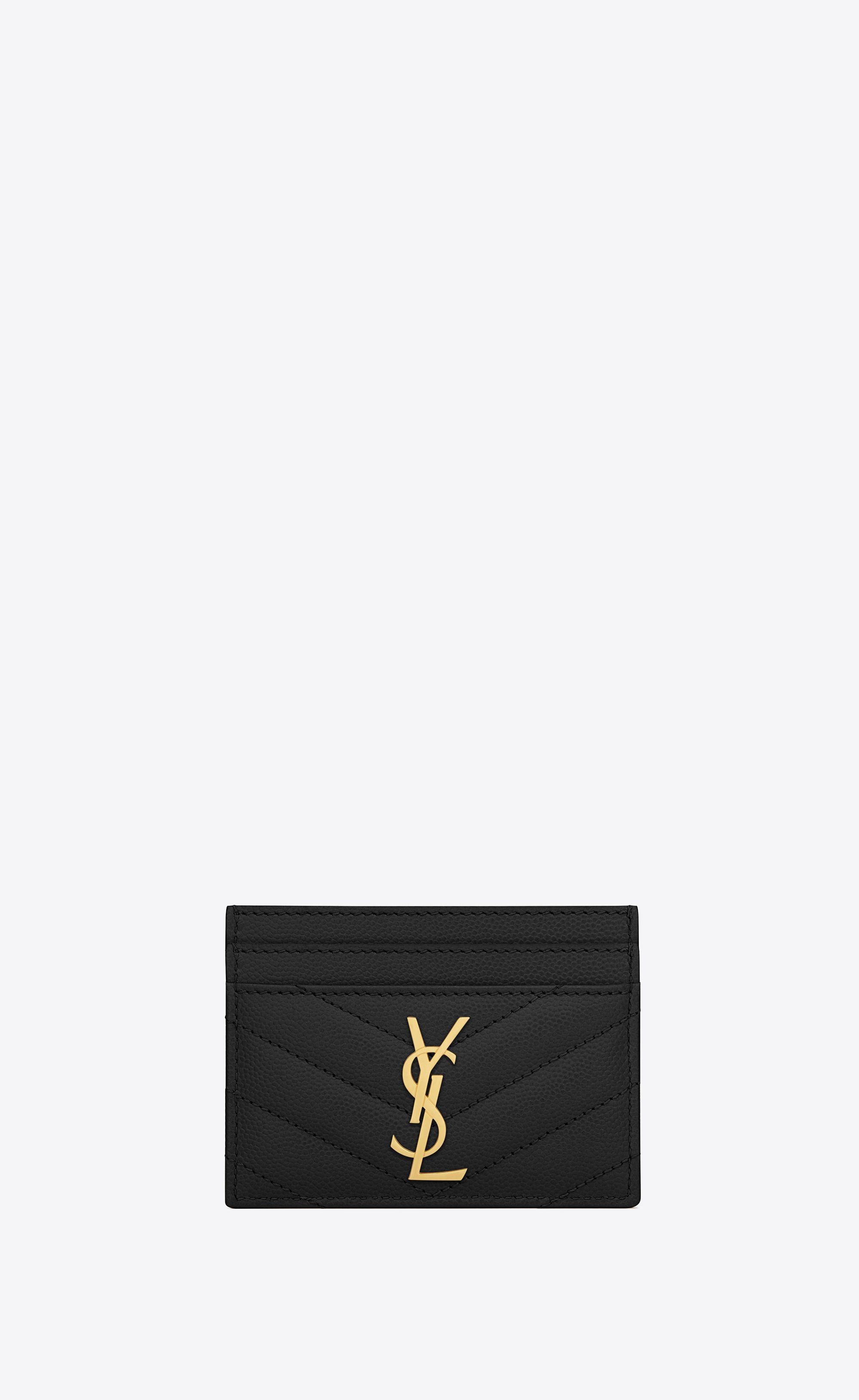 b0cadef7 Monogram card case in grain de poudre embossed leather in 2019 ...